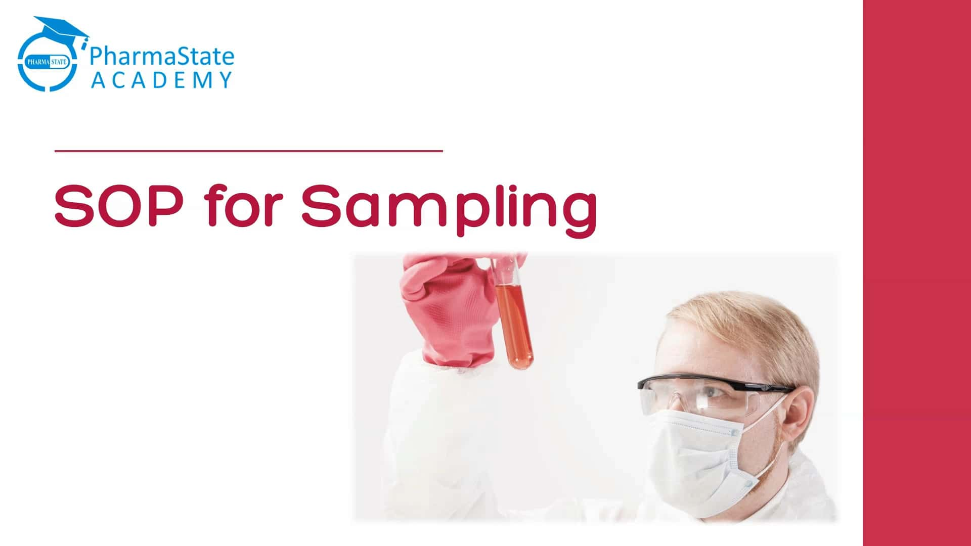 Standard Operating Procedure for Sampling