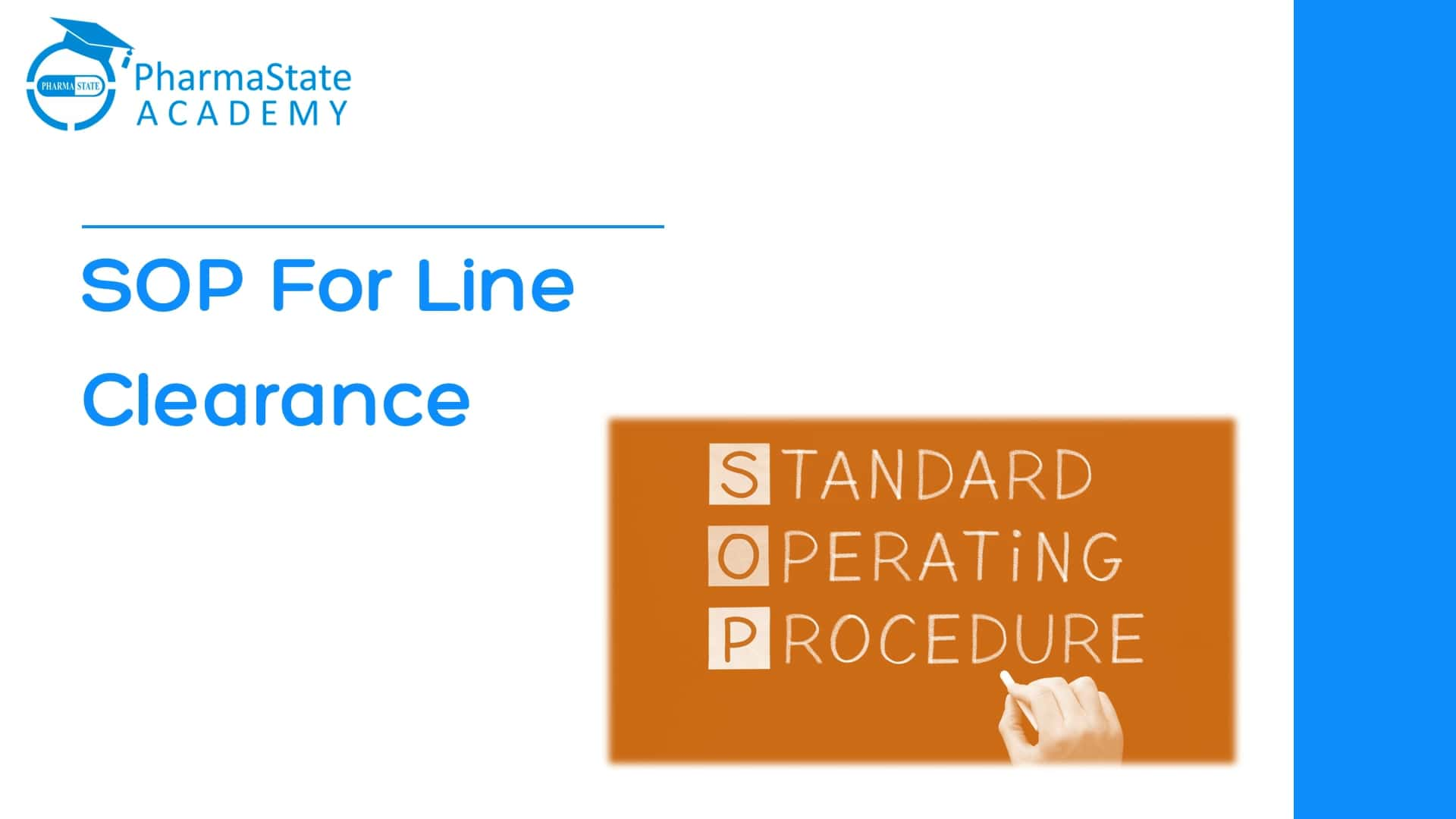 Standard Operating Procedure for Line Clearance