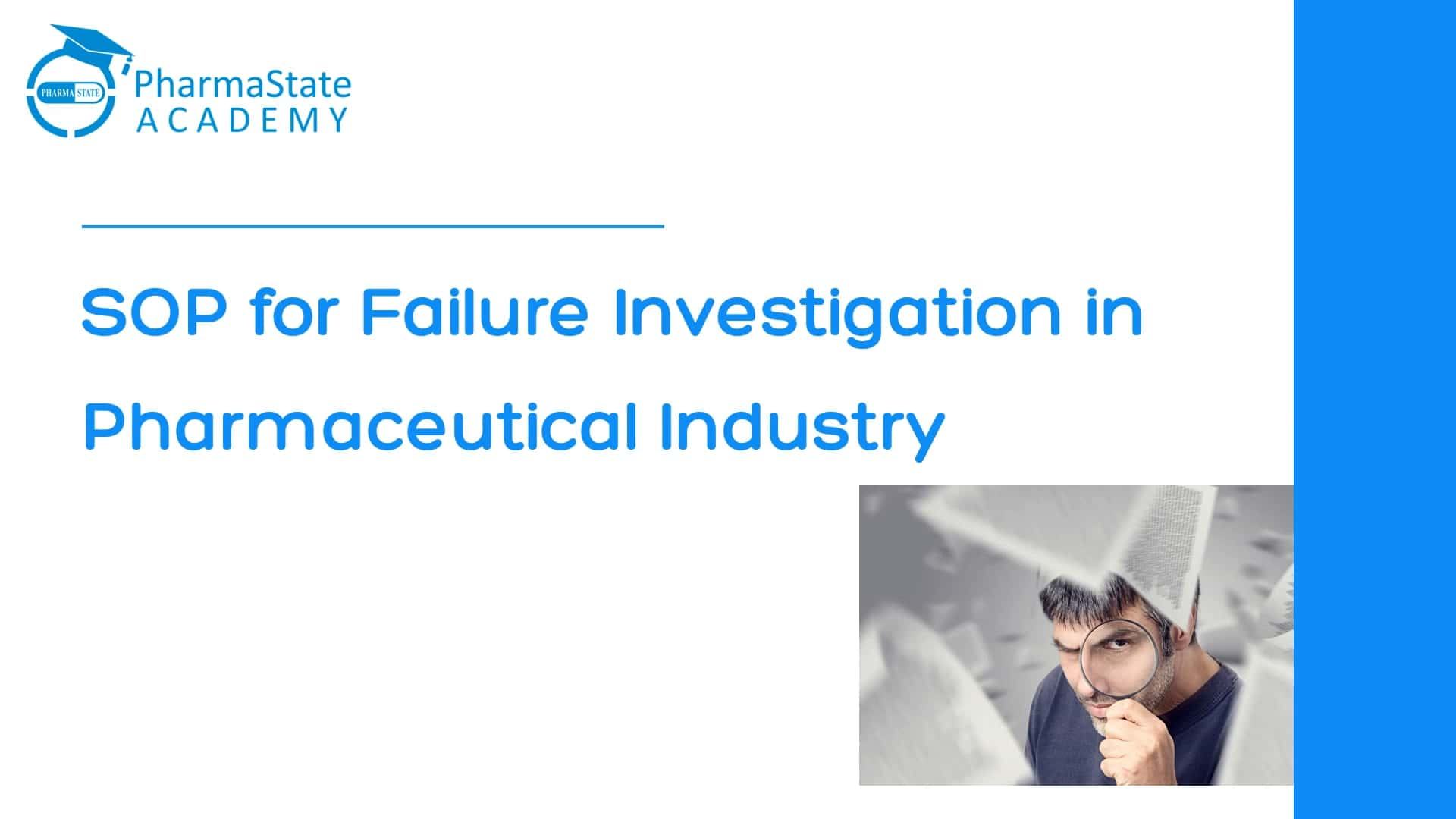 SOP for failure Investigation in Pharmaceutical Industry