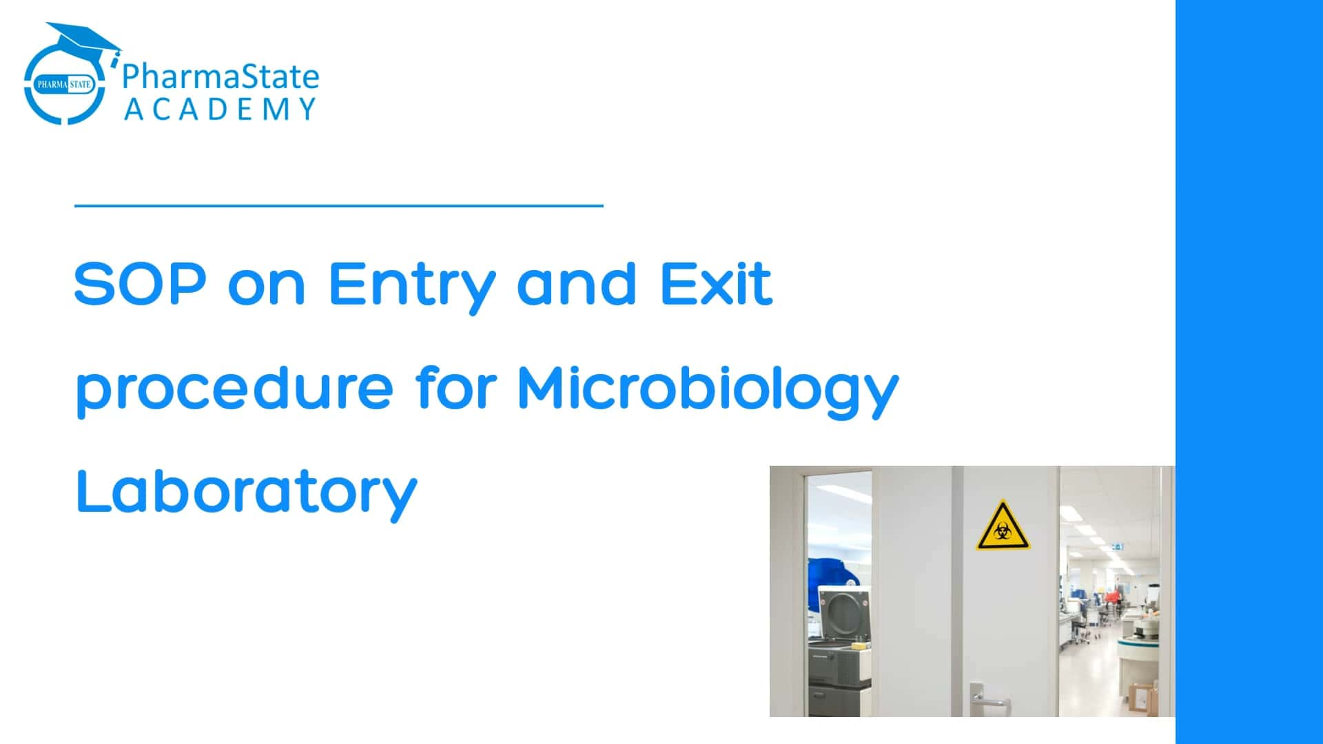 SOP on Entry and Exit procedure for Microbiology Laboratory