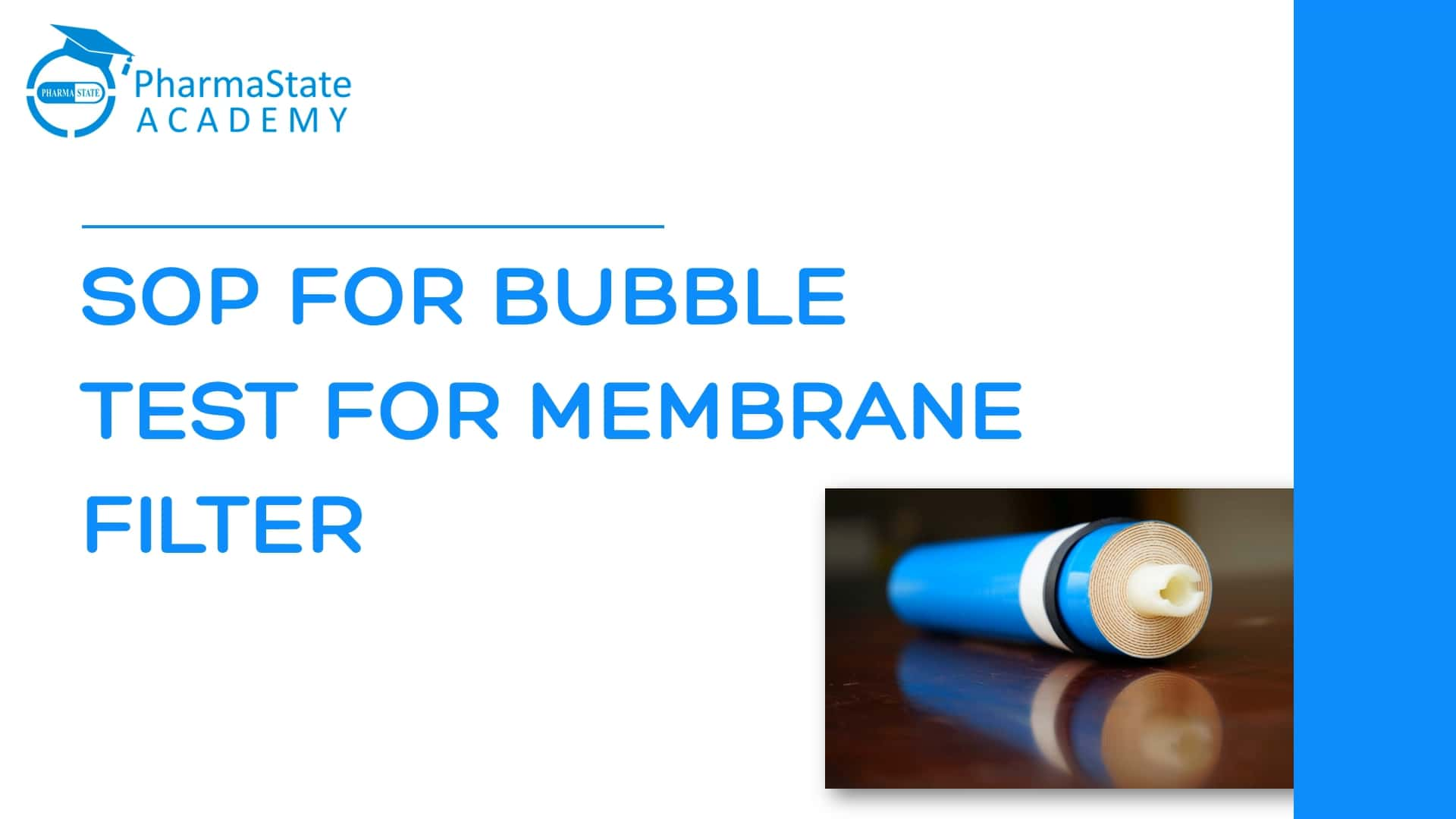 SOP FOR BUBBLE TEST FOR MEMBRANE FILTER