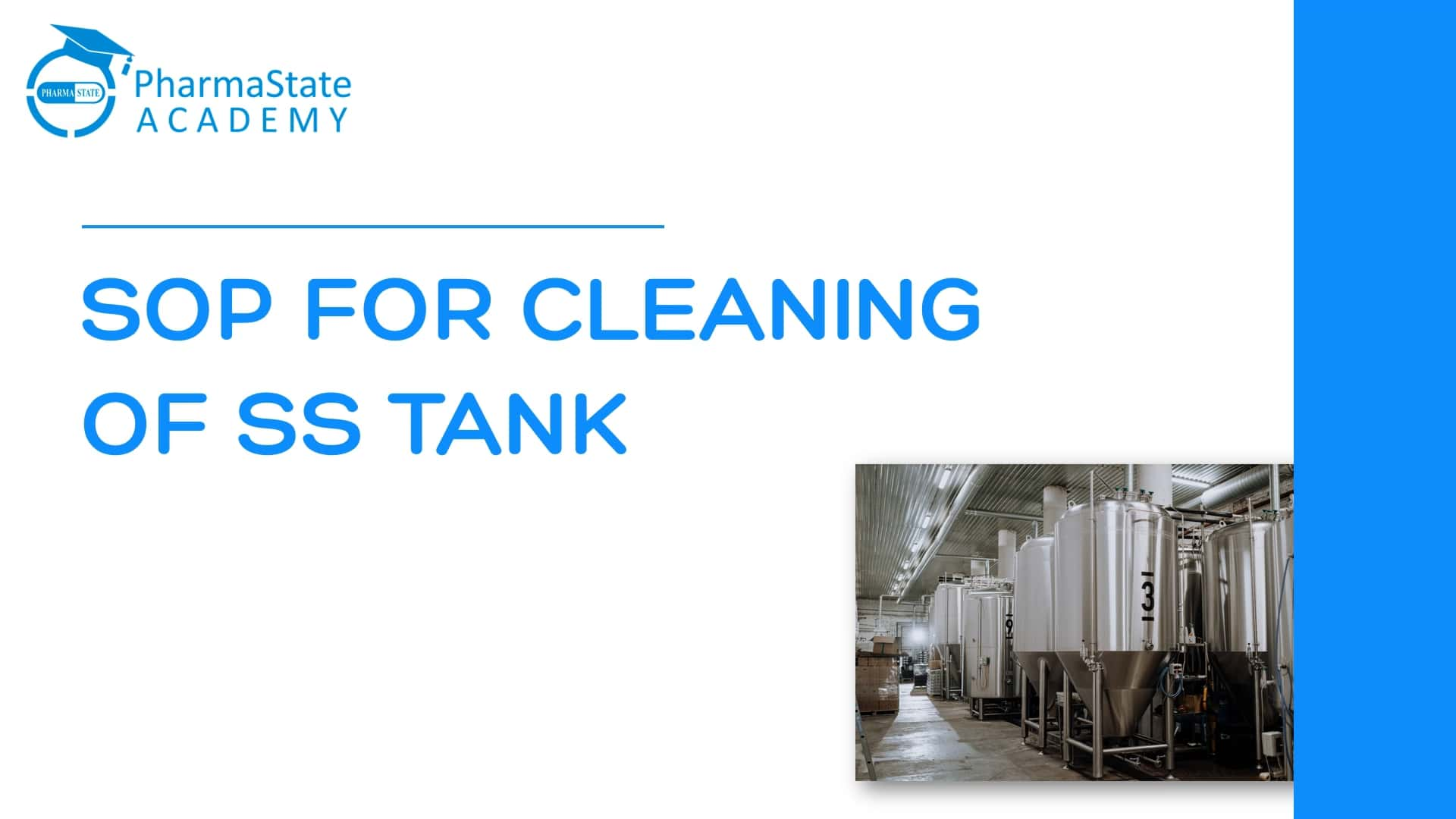 SOP FOR CLEANING OF SS TANK