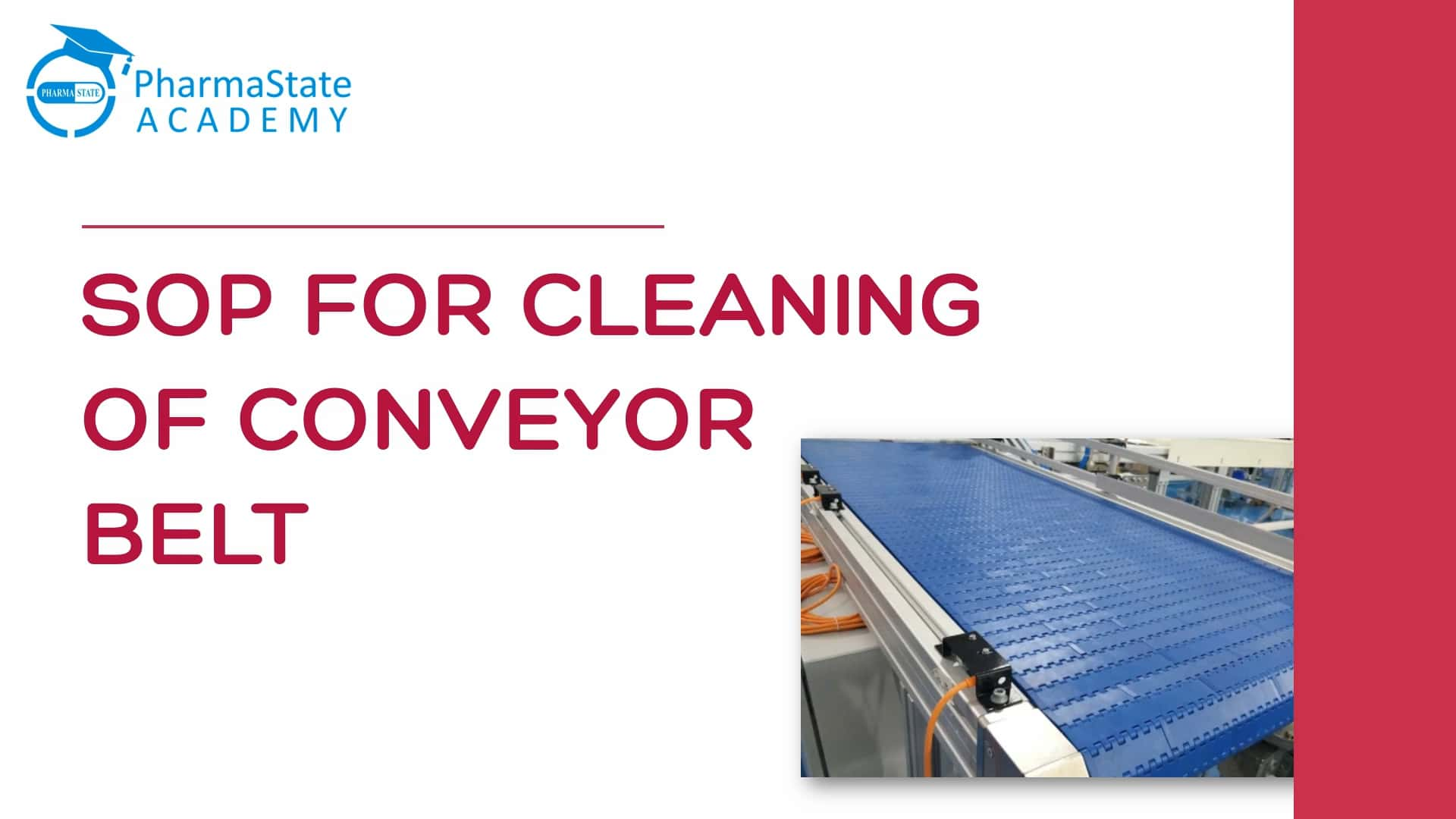 SOP For Cleaning of Conveyor Belt