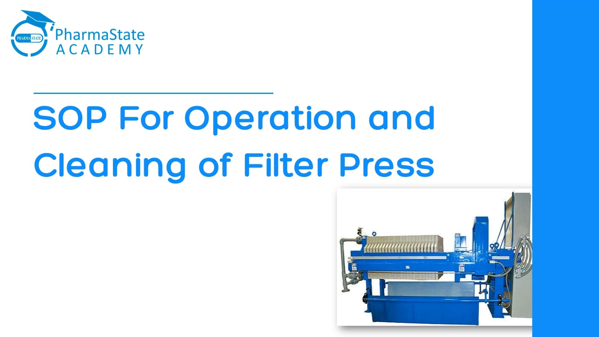 SOP For Operation and Cleaning of Filter Press